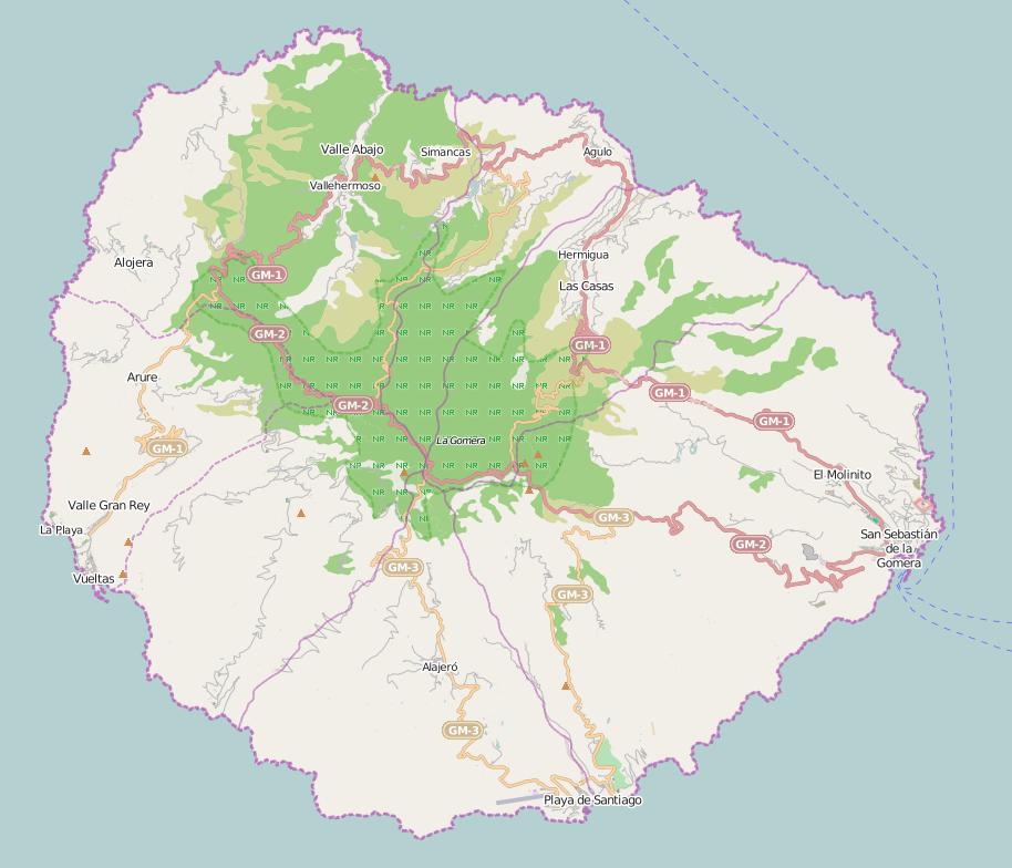 map-la gomera